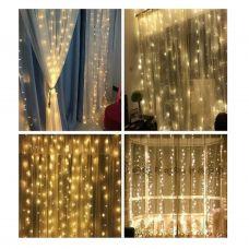 Đèn rèm , đèn mành mưa rơi sợi dài , màu vàng ấm