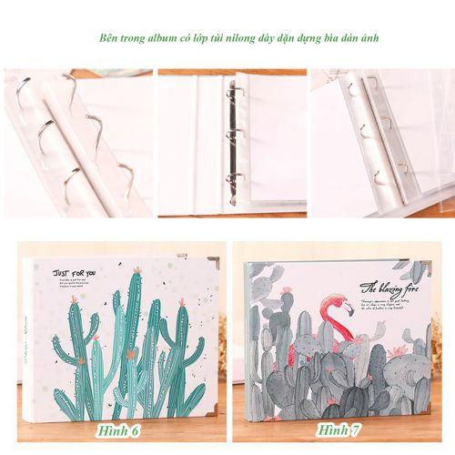 Album dán hình cao cấp cỡ 21x22cm , có hộp đựng