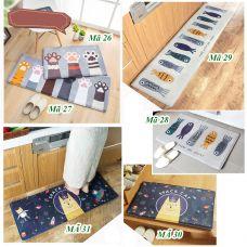 Thảm bếp thảm chùi chân lông mịn cao cấp 3 lớp dầy dặn hình in sắc nét